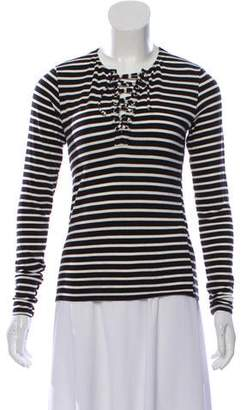 Reformation Stripe Long Sleeve Top