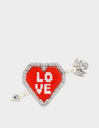 Shourouk Emojibling Heart brooch