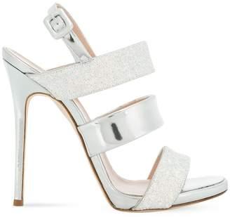 Giuseppe Zanotti Design metallic glitter sandals
