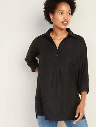 Old Navy Linen-Blend Popover Resort Tunic for Women
