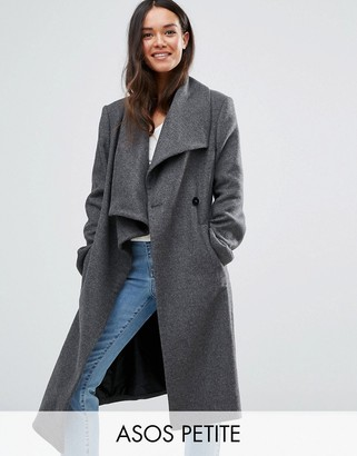 ASOS Petite ASOS PETITE Waterfall Trapeze Coat in Wool Blend $136 thestylecure.com