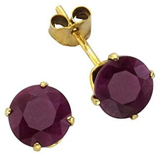 Celesta Ellen K. 216320041 Women's Earrings - 8-Carat 333/1000 Yellow Gold with Ruby