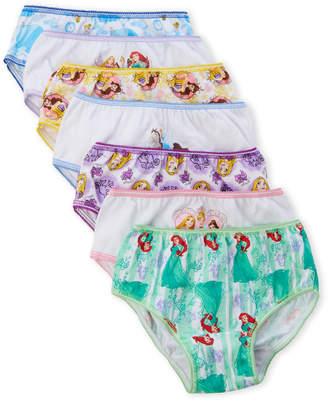 Disney Girls 4-6x) 7-Pack Princess Panties