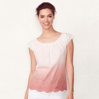 Women's LC Lauren Conrad Pleated Dip-Dye Top $36 thestylecure.com