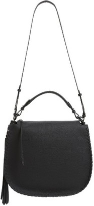 Allsaints Mori Leather Hobo - Black $348 thestylecure.com