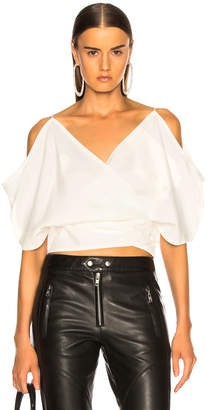 Helmut Lang Wrap Top in Natural White | FWRD