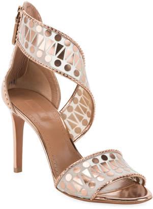 Alaia Filet Triangle Mirror Sandals