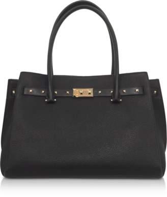 Michael Kors Black Pebbled Leather Large Addison Tote Bag