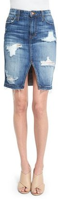 Joe's Jeans Distressed Denim Pencil Skirt, Kumi $179 thestylecure.com