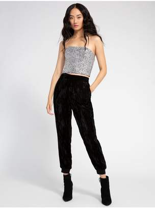 Alice + Olivia Pete Velvet Pull Up Pant