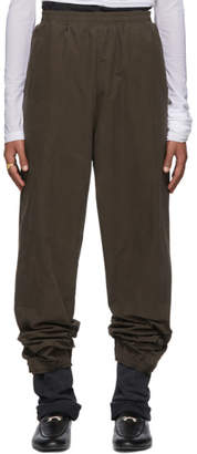Y/Project Khaki Denim Cuff Lounge Pants