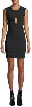 Alexander Wang High Twist Jersey Dress with Keyhole Detail