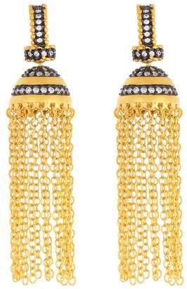 Freida Rothman Luna New Year Pave Embellished Tassel Earrings