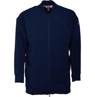 adidas x Eden Park Mens Long Rugby Bomber Jacket Collegiate Navy/Diva