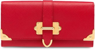Prada Cahier Saffiano Leather Wallet Large