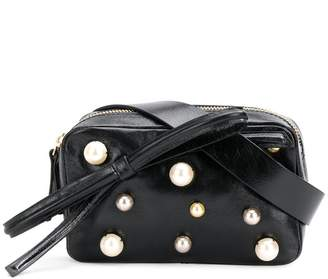 RED Valentino RED(V) faux pearl-embellished belt bag