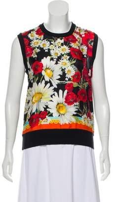Dolce & Gabbana Silk & Cashmere Blend Sleeveless Top