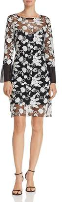 Nanette Lepore nanette Embroidered Illusion Dress