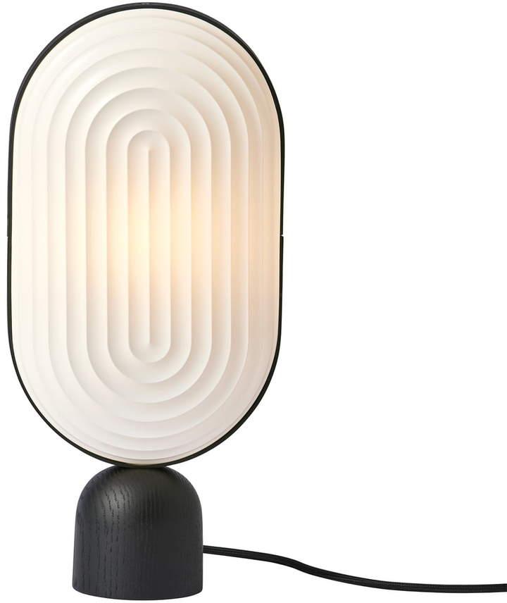 ARC Tischleuchte, Eiche schwarz / Lampenschirm weiß