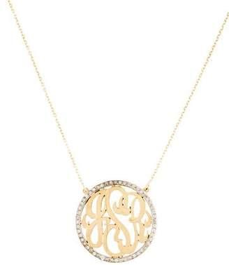 14K Diamond Initials Pendant Necklace