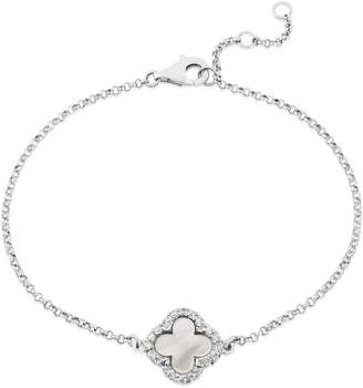 Mother of Pearl Auree Jewellery - Irini Sterling Silver & Clover Bracelet