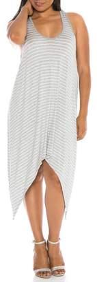 SLINK JEANS Stripe Tank Dress (Plus Size)