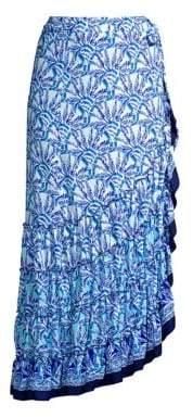 Lilly Pulitzer Alaina Ruffled Print Wrap Skirt