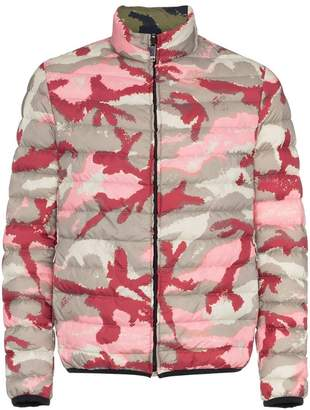 Valentino reversible camo print puffer jacket