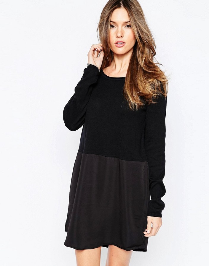 Only Long Sleeve Shift Dress