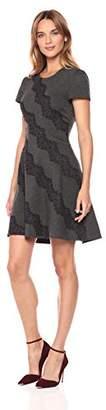 Eliza J Women's Cap Sleeve Fit & Flare Dress