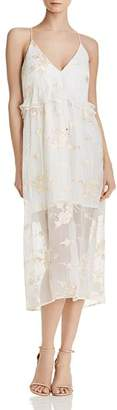 Elliatt Concert Embroidered Chiffon Dress