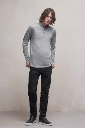French Connenction Wool Jersey Polo Shirt