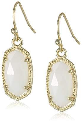 Kendra Scott Signature Lee Earrings in Gold Plated and White Mother-Of-Pearl