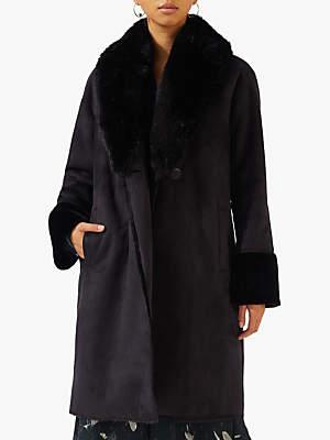 Shawl Collar Coat, Black