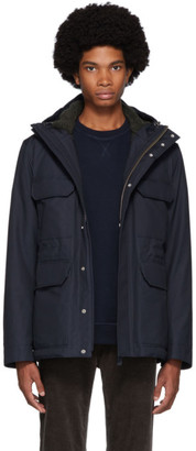 Norse Projects Navy Cotton Nunk Cambric Jacket