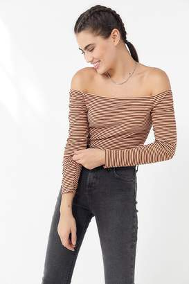 Urban Outfitters Striped Off-The-Shoulder Top