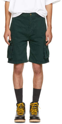 Acne Studios Green Bla Konst Sheen Over Shorts