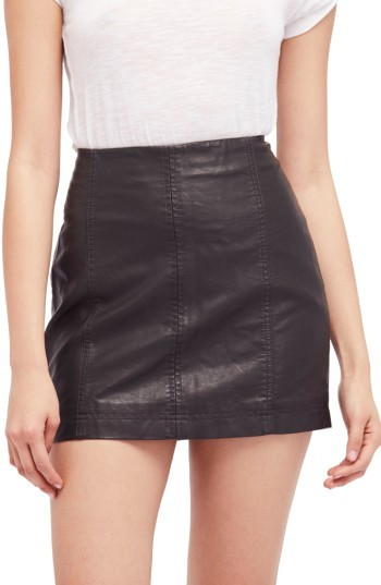 Women's Free People Modern Femme Faux Leather Miniskirt