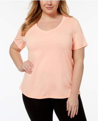Macy's Ideology Plus Size Rapidry V-Neck Performance T-Shirt, Created for