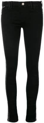 Love Moschino logo band skinny trousers