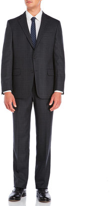 hickey freeman Grey Classic Plaid Suit $1,495 thestylecure.com