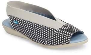 CLOUD 'Caliber' Peep Toe Leather Flat