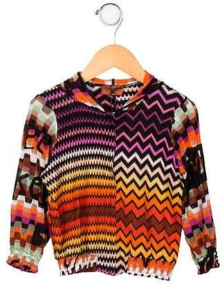 Missoni Kids Girls' Abstract Print Knit Hoodie w/ Tags