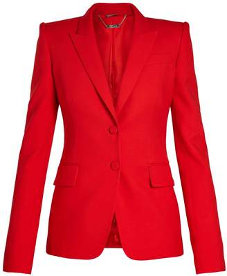 Alexander McQueen Peak-lapel single-breasted wool-blend jacket