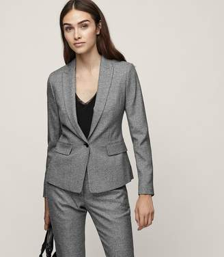Reiss Hampstead Jacket - Single-breasted Blazer in Black/White