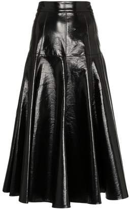MSGM Flared PVC Skirt