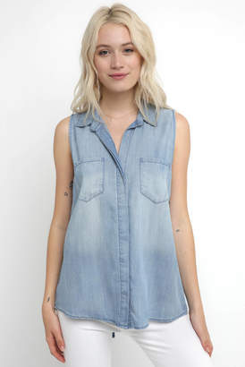 Velvet Heart Button Down Tank Top