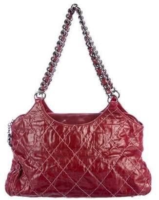 Chanel Double Stitch Shoulder Bag Red Double Stitch Shoulder Bag