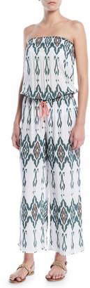 Heidi Klein Strapless Printed Wide-Leg Jumpsuit Coverup