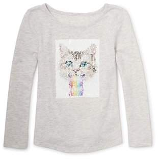 Children's Place The Kitty Graphic Long Sleeve Graphic Tee